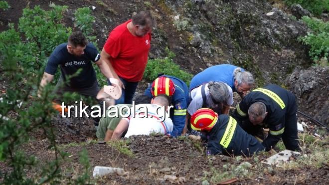 επιχείρηση διάσωσης 77χρονου στα Τρίκαλα1