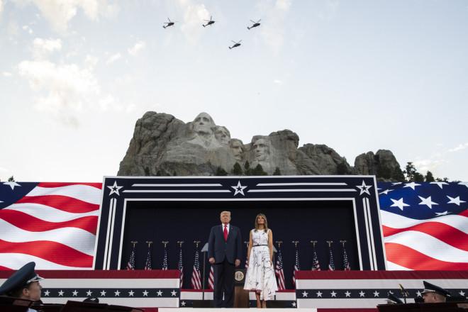 Ο Τραμπ στο όρος Ράσμορ
