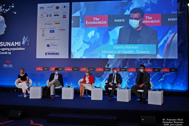 Ο υπουργός Υγείας Βασίλης Κικίλιαςστο συνέδριο του Economist
