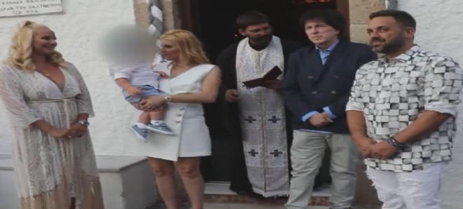 Γιώργος Γιαννιάς Ελευθερία Παντελιδάκη Βάφτισαν τον μικρό τους γιο