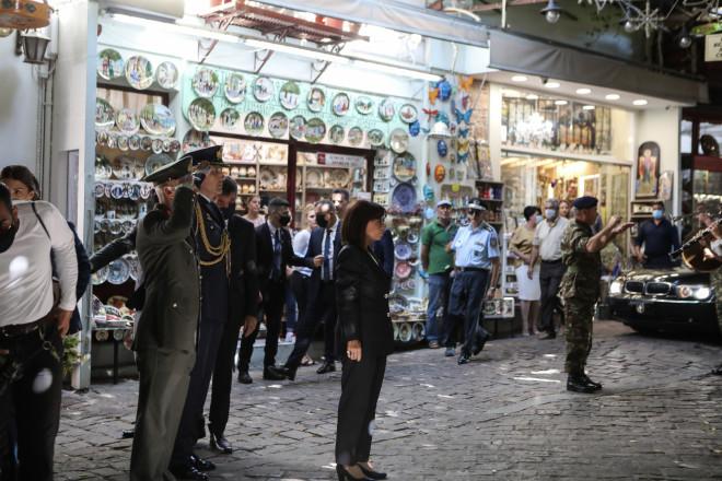 Η Κατερίνα Σακελλαροπούλου στη Μυτιλήνη για τον Δεκαπενταύγουστο