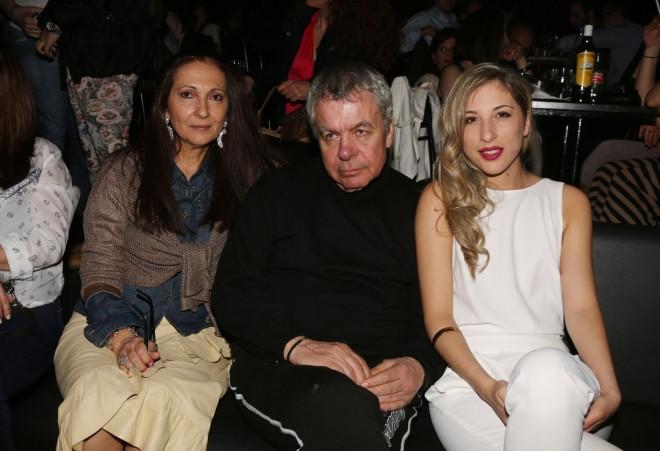γιάννης Πουλόπουλος με τη γυναίκα και την κόρη του