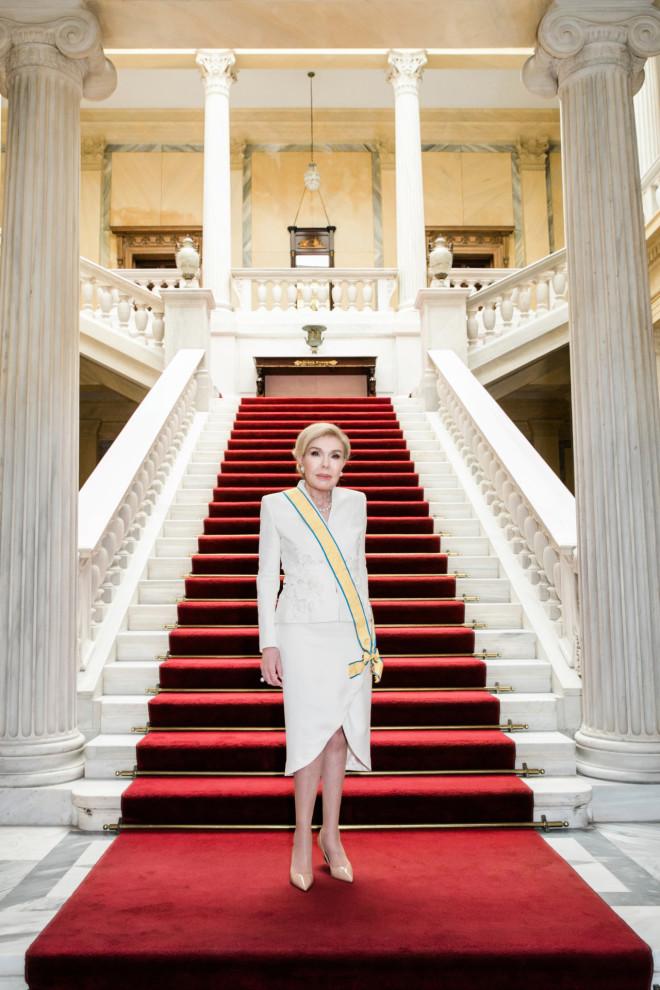 Η κυρία Μαριάννα Β. Βαρδινογιάννη στο Προεδρικό Μέγαρο