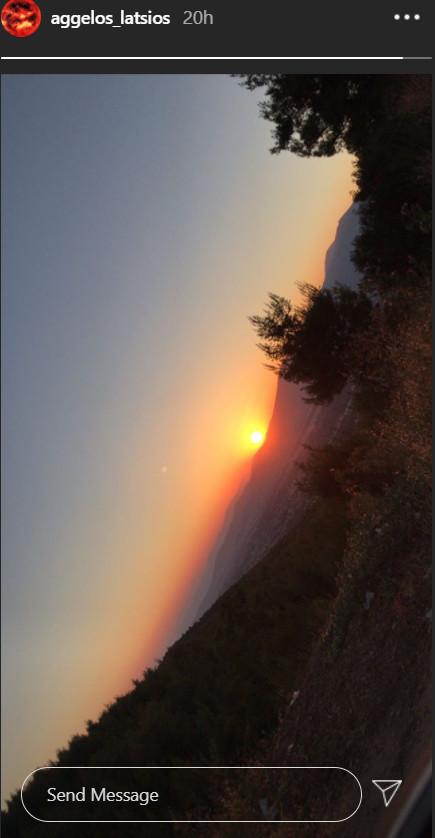 Άγγελος Λάτσιος ηλιοβασίλεμα Instagram
