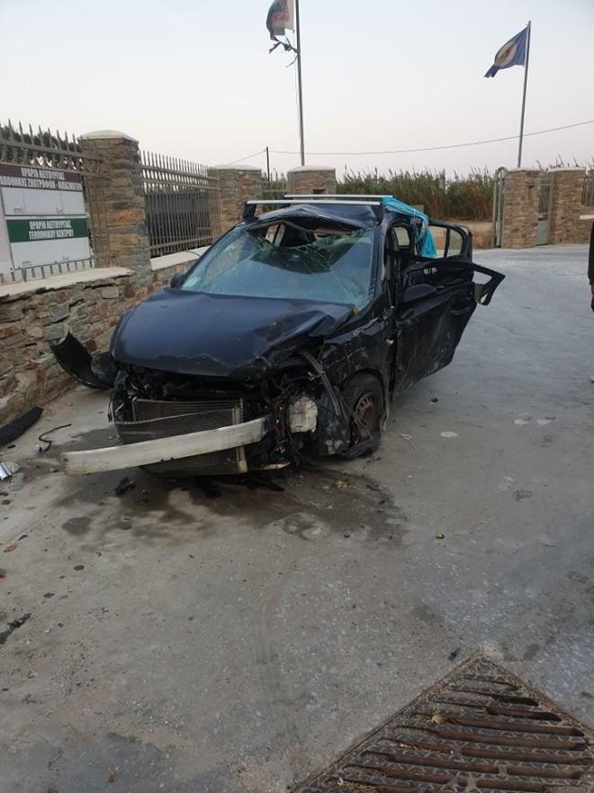 Τροχαίο δυστύχημα στη Νάξο