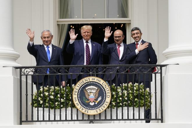 Μπενιαμίν Νετανιάχου, Ντόναλντ Τραμπ και οι ΥΠΕΞ Μπαχρέιν και ΗΑΕ