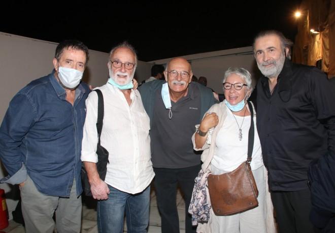 Σπύρος Παπαδόπουλος-Θανάσης Παπαγεωργίου-Αντώνης Αντωνίου-Νατάσα Ασίκη-Λάκης Λαζόπουλος
