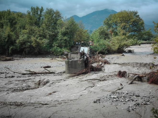 Μεγάλες καταστροφές από τον Ιανό στο Μουζάκι στην Καρδίτσα