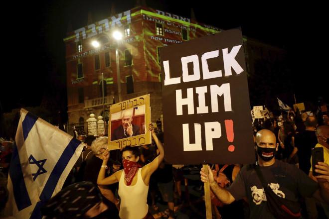 Ισραηλινοί ζητούν την παραίτηση του πρωθυπουργού, Μπέντζαμιν Νετανιάχου