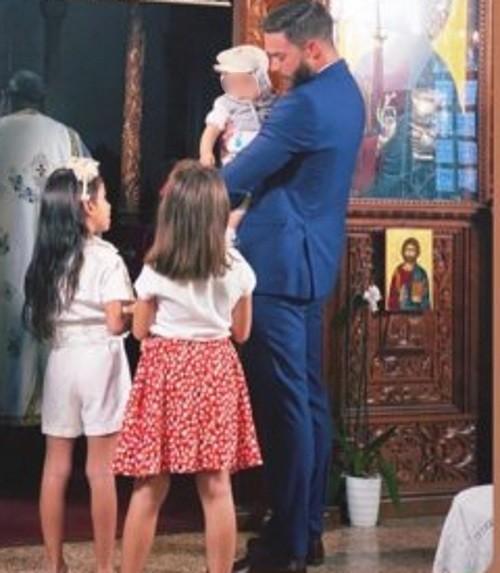Στέφανος Μιχαήλ Έγινε νονός έχοντας την αγαπημένη του στο πλάι του Νάταλι