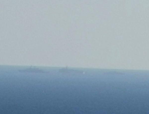 Το Oruc Reis μαζί με τα συνοδευτικά πλοία