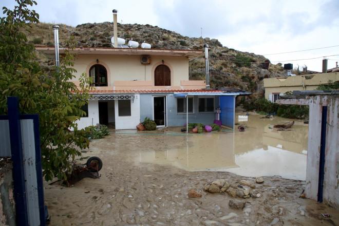 Πλημμύρες από την κακοκαιρία στα Χανιά