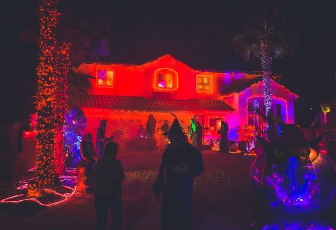 Σπίτι στολισμένο για τον εορτασμό του Χάλογουιν