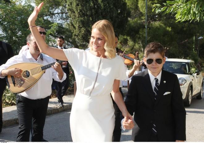 Η Τζένη Μπαλατσινού με τον γιο της, Μάξιμο