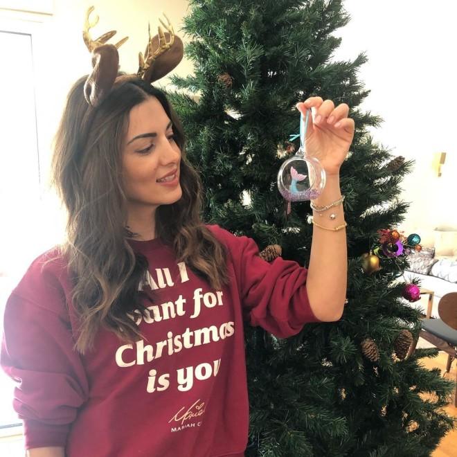 Τσιμτσιλή σπίτι στόλισε χριστουγεννιάτικο δέντρο
