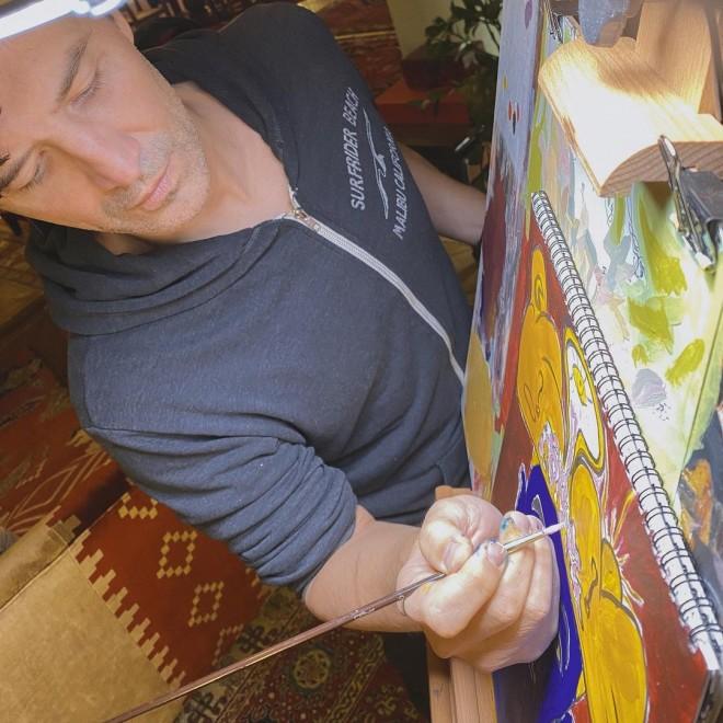 Σάκης Ρουβάς καραντίνα ζωγραφική