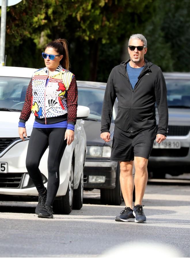 Ή Έλενα Παπαρίζου με αθλητικό λουκ