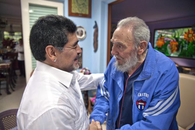 Μαραντόνα - Φιντέλ Κάστρο
