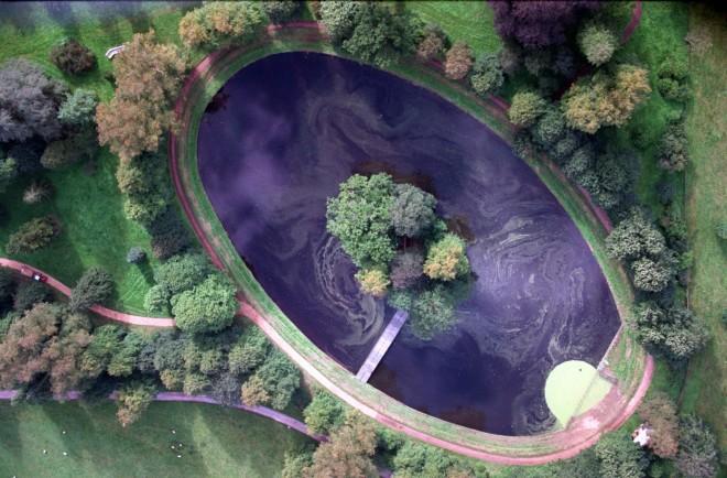 Αεροφωτογραφία της λίμνης στο κτήμα Althorpe
