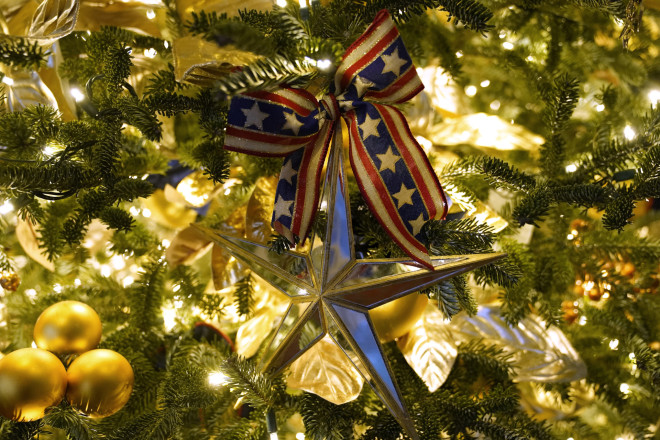 Στολίδια σε χριστουγεννιάτικο δέντρο στον Λευκό Οίκο