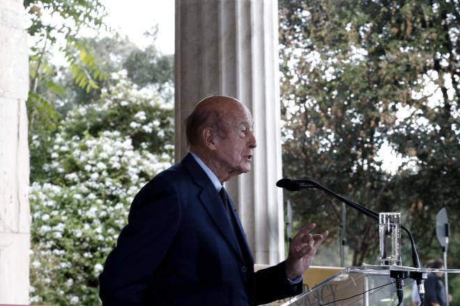 Από επίσκεψή του στην Ελλάδα, το 2013 - πηγή: AP Photo/Petros Giannakouris
