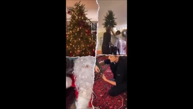 Ρουβάς Ζυγούλη Η ιεροτελεστία του χριστουγεννιάτικου δέντρου τους
