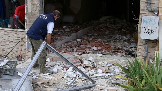 Mεγάλες υλικές ζημιές από έκρηση σεΑΤΜ, στην Πολίχνη Θεσσαλονίκης