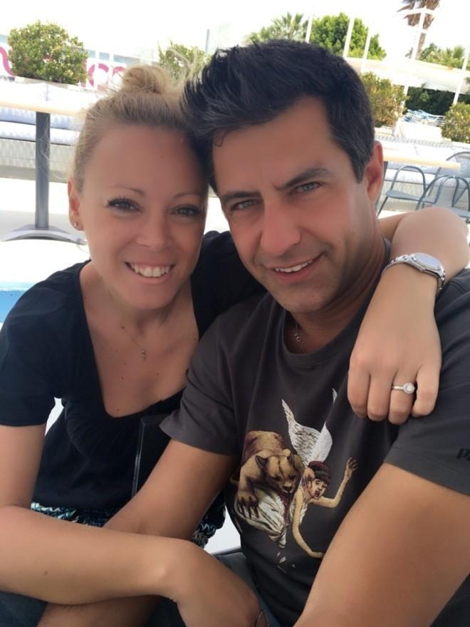 Αγγελίδης με τη σύζυγό του Εβελίνα Βαρσάμη