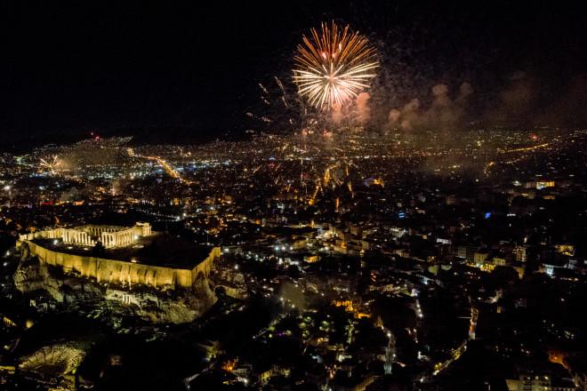 Πυροτεχνήματα της Πρωτοχρονιά στην Αθήνα
