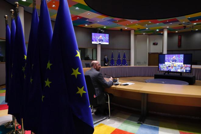 τηλεδιάσκεψη Ευρωπαϊκού Συμβουλίου