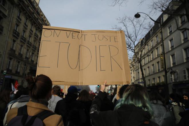 Διαμαρτυρία φοιτητών στο Παρίσι
