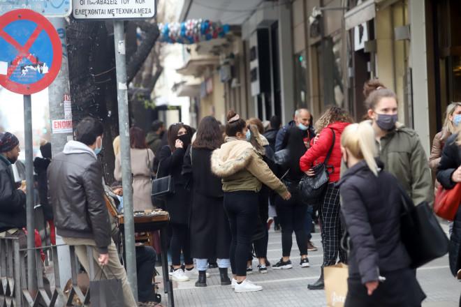 συνωστισμός στη Θεσσαλονίκη