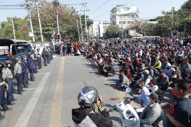 Μιανμάρ διαδηλώσεις