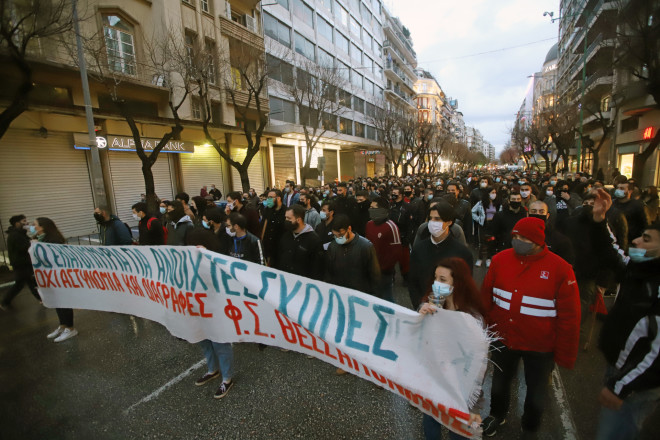 Ανάλογες εικόνες σήμερα και στη Θεσσαλονίκη-φωτογραφία Eurokinissi