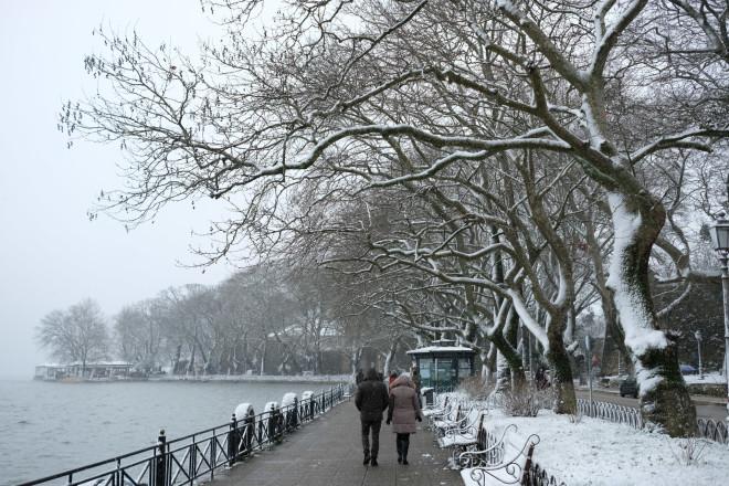 Χιόνια στα Ιωάννινα- φωτογραφία Eurokinissi