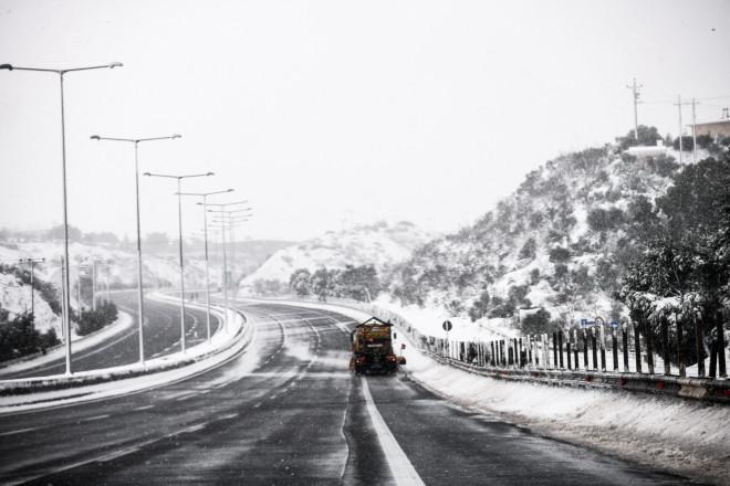 χιόνια Εθνική Οδός
