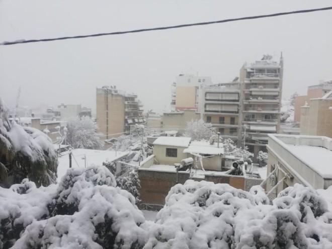 Γαλάτσι χιόνι