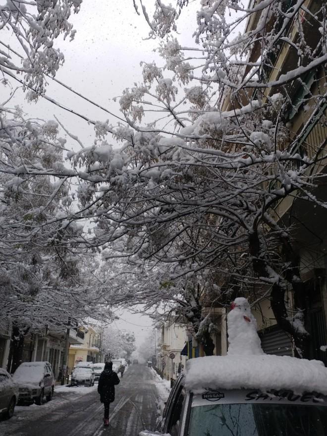 Λόφος Σκουζέ χιόνια
