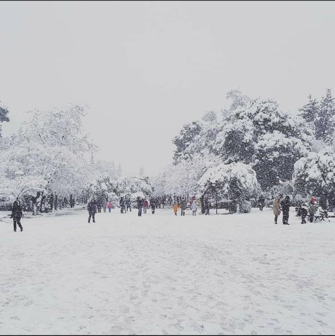 χιονοπόλεμος Αθήνα