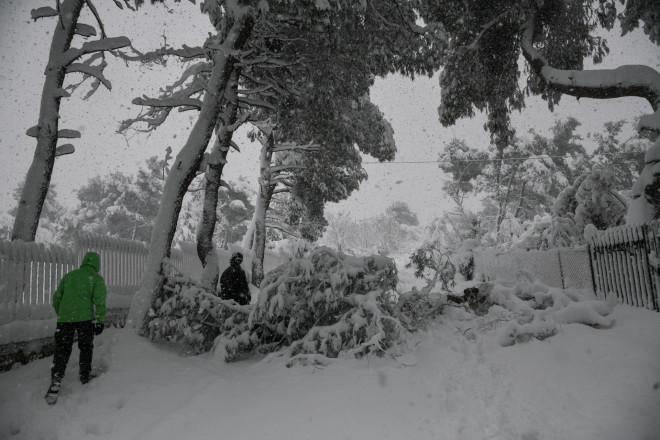 Αποκλεισμένη περιοχή από τα χιόνια