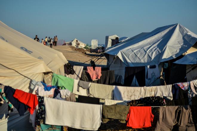 o προσωρινός καταυλισμός του Καρά Τεπέ στη Μυτιλήνη