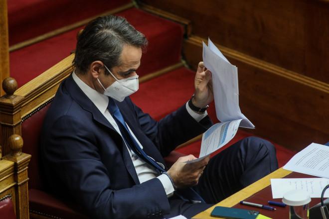 Κυριάκος Μητσοτάκης στη Βουλή