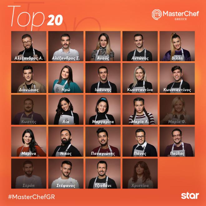 Οι 20 διαγωνιζόμενοι του MasterChef 5