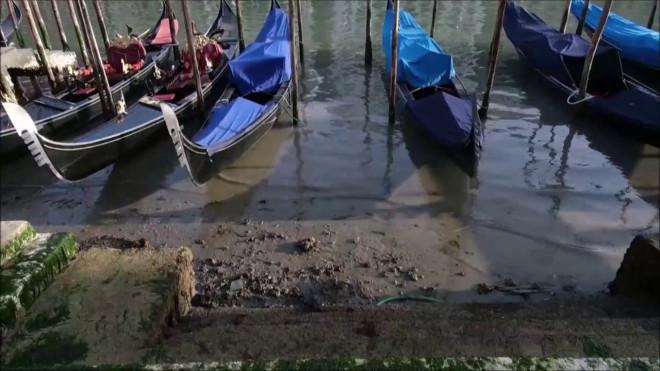 στέρεψαν τα κανάλια στη Βενετία