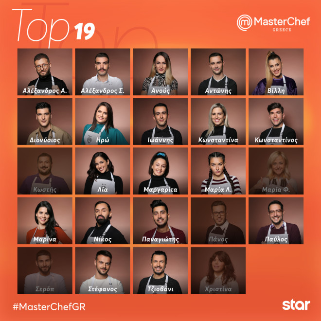 Οι 19 παίκτες του MasterChef 5