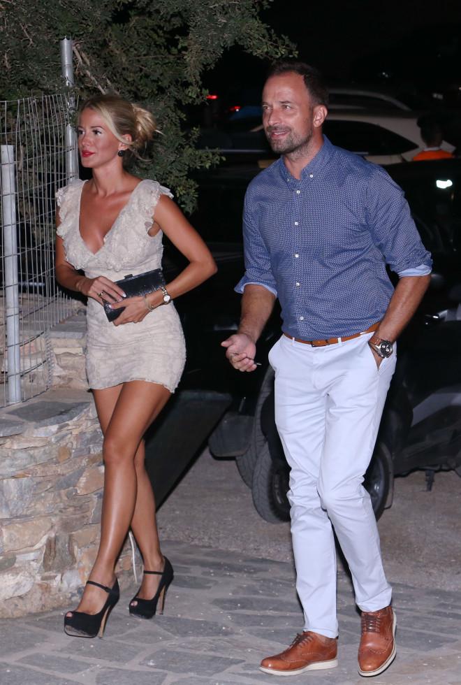 Ο Γιώργος Λιανός με τη σύντροφό του, Κωνσταντίνα Καραλάξη