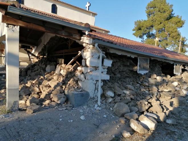 Οι ζημιές στον Άγιο Νικόλαοστο Κουτσόχερο (17ος αι.) - πηγή:Υπουργείο Πολιτισμού