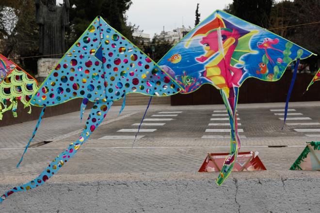 Χαρταετοί προς πώληση στο κέντρο της Αθήνας-φωτογραφία Eurokinissi