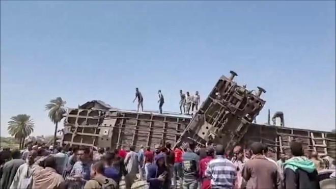 σύγκρουση τρένου Αίγυπτος