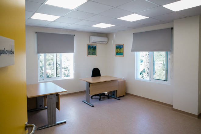 Χώροι της νέας πτέρυγας του Κέντρου Υγείας Σαλαμίνας